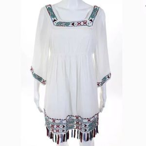 Romeo & Juliet White Embroidered Dress